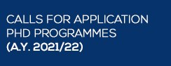 Call for applications PhD programmes (A.Y. 2021/22)