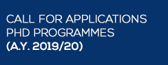 Calls for application PhD programmes (A.Y. 2019/20)