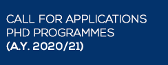 Calls for application PhD programmes (A.Y. 2020/21)