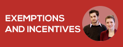 Exemptions and incentives