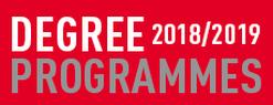 Degree programmes 2018/2019