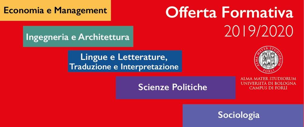 Offerta formativa Forlì 2019/20 - Campus di Forlì