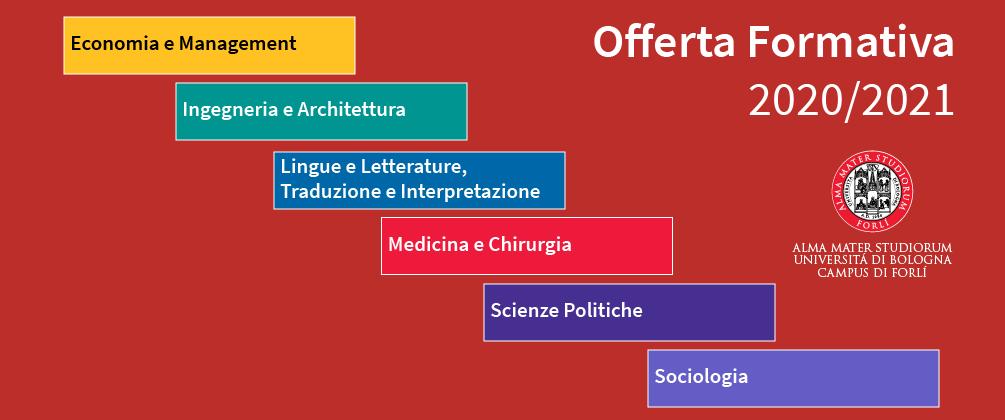 Offerta formativa Forlì 2020/21