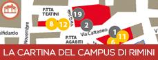 La cartina del Campus di Rimini