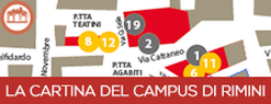 La cartina del Campus di Rimini